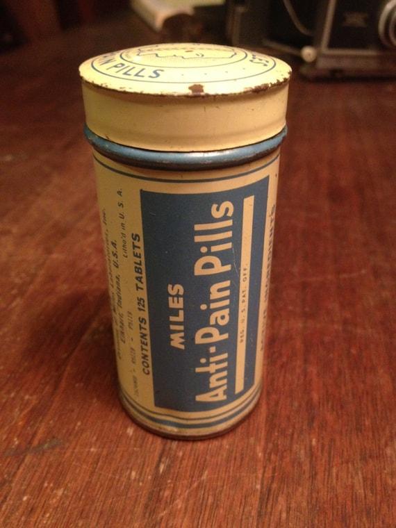 Antique Miles Anti-Pain Pills Tin