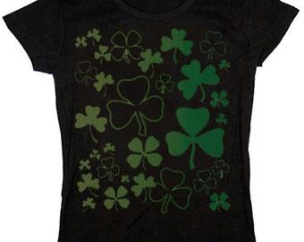 Ladies t-shirt / Shamrocks