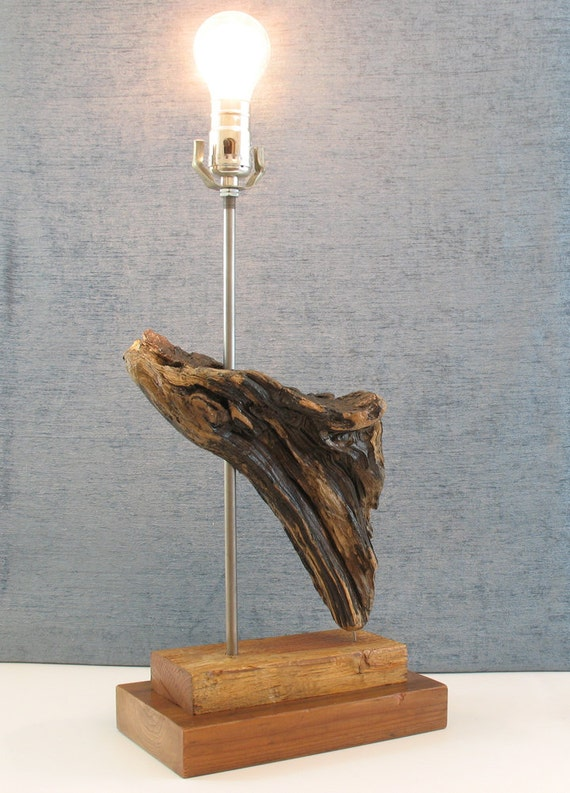 Driftwood Waterfall Lamp Drift Wood Modern Rustic Lamp With