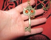 Hecate protection owl key necklace