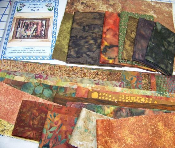 Line Art Quilt Kit : Cattails art quilt pattern kit from debbiebohringer on