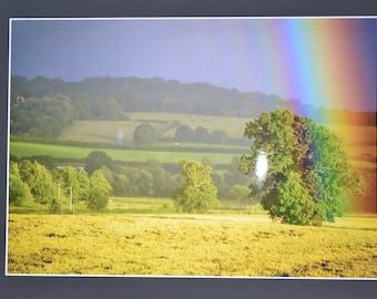 "Mounted Original Photograph - 20x18"" - Rainbow Magic"