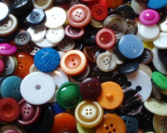 50 Large Buttons 20mm to 45mm in Size Random Mix Colorful