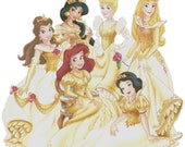 Disney Golden Princess cross stitch pattern