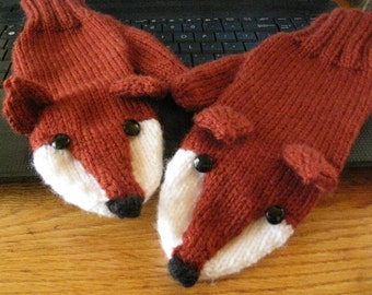 Extra Small Fox Mittens for Babies & Children