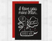"Creepy Love Card ""I love you more than razor blades"""