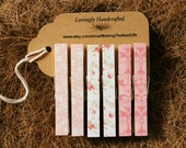 Clothespin Magnets, Pink, Standard Size, Set of 6