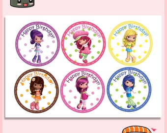 Strawberry Shortcake and Friends Cupcake Toppers