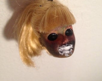 Creepy Dead Doll Head Ornament : Valerie Froth