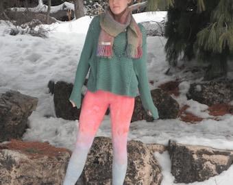 Yoga Leggings Cotton Candy Tie Dye