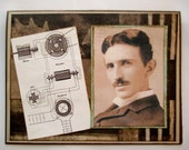 Nikola Tesla Dynamo Greeting Birthday Card