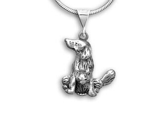 Silver Dog Cat Combination Pendant