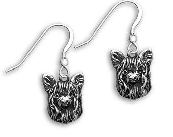 Sterling Silver Yorkie Earrings