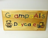 "Custom Engraved Wooden Sign Perfect for Grandma - 5 1/2"" x 15"""