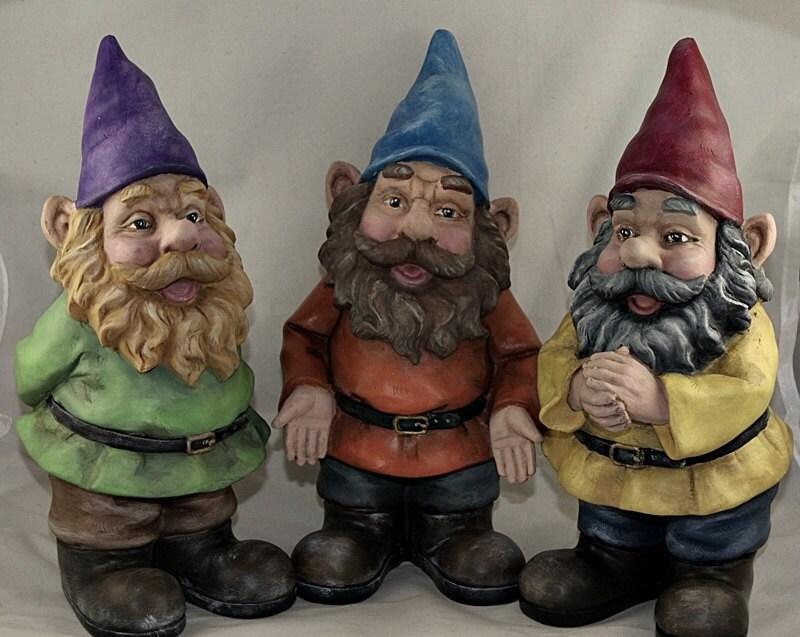 Garden Gnome Hand Painted Resin Figurines Garden Decor Each