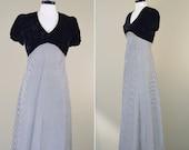 Vintage 1930s Bias Cut Gown - 30s Velvet Dress - The Velvet Empire Gown