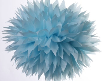 Tissue paper pom pom - 1 Large  Ice Blue