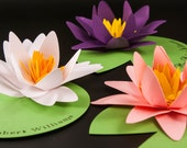 Water Lily Place Cards - Wedding Escort or Placecards Perfect for your extra special occasion