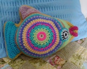 Tilly Tropical Fish Crochet Pattern PDF Pillow Snuggly Toy Cushion crocheted stuffed pillow amigurumi