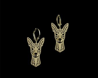 Miniature Pinscher earrings - Gold