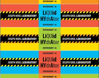 Scientist Waterbottle Labels • Printable