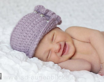 Ruffled baby Hat