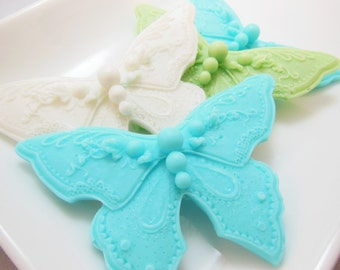 2 Butterfly Guest Soaps