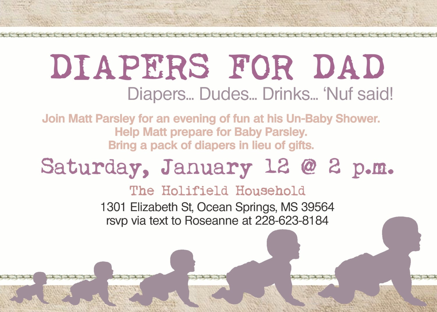 daddy diaper baby girl shower dad shower by diconshadesigns