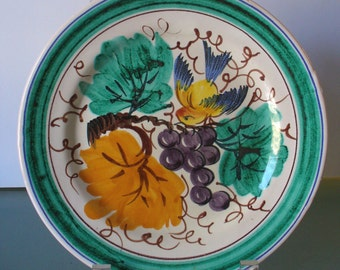Vintage Made in Italy Ceramic Plate PV