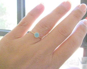 Opal ring, gold ring,  druzy ring, gold ring with druzy crystal, stackable ring,  bridal jewelry