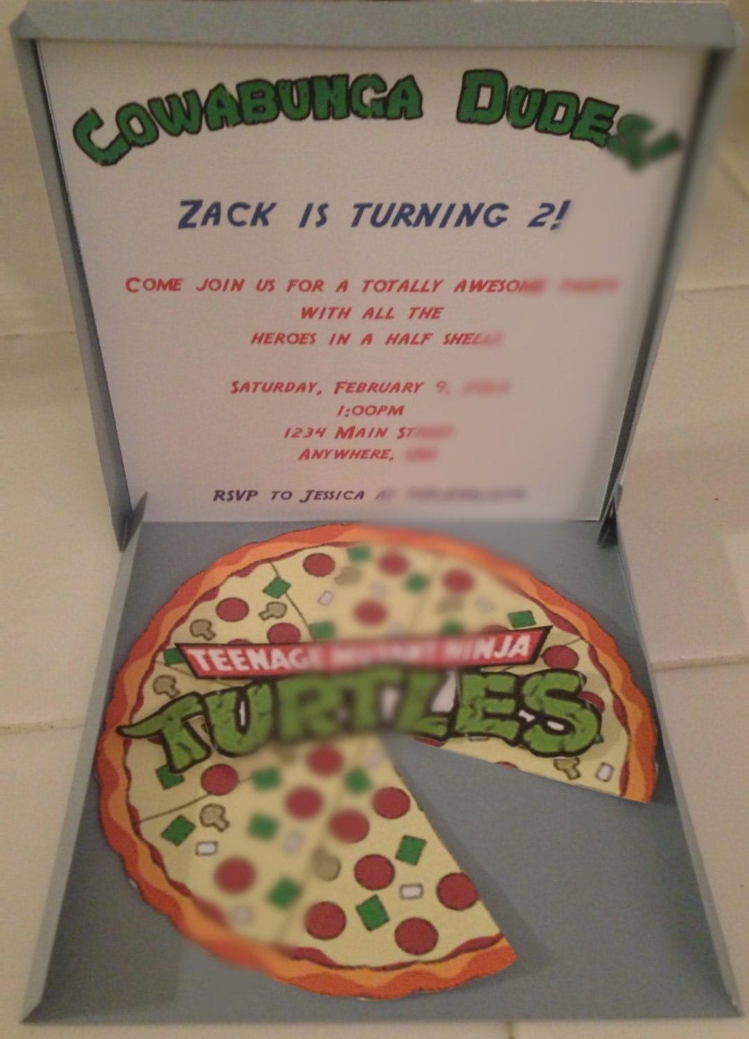 Teenage Mutant Ninja Turtles Birthday Invites as amazing invitations ideas