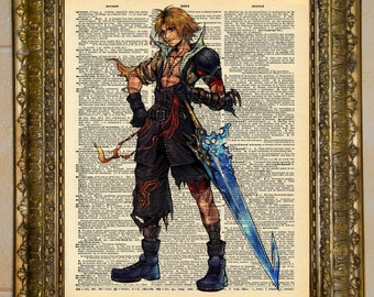 Final Fantasy X Tidus Dictionary Art
