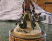 Collectable John Wayne Franklin Mint LIMITED EDITION Hand Painted Sculpture: Round-Up