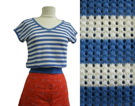 70's Mesh Top Nautical Stripe