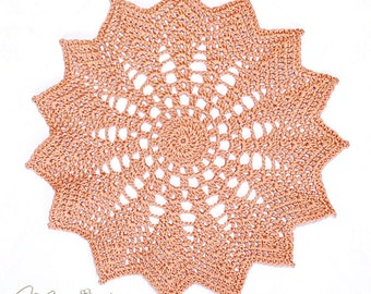 """Crochet Handmade Doily (8.5"""" in diameter, copper mist shown) / Elegant Home Accents / Table Centerpiece Doily / Mother's Day Gift"""