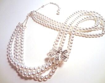 Preciosa Pearls Jewelry Set Necklace, earings & bracelet