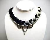 W H I T N E Y  Black and White Necklace