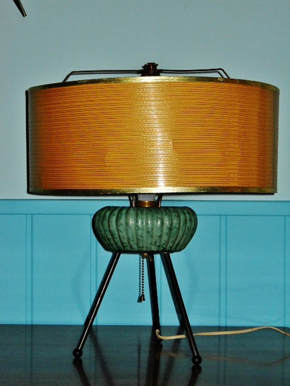 Atomic Age Table Lamp Mid Century Modern Space Age Retro