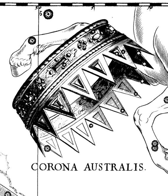 Star Astronomy Constellation of Corona Australis Moon glob