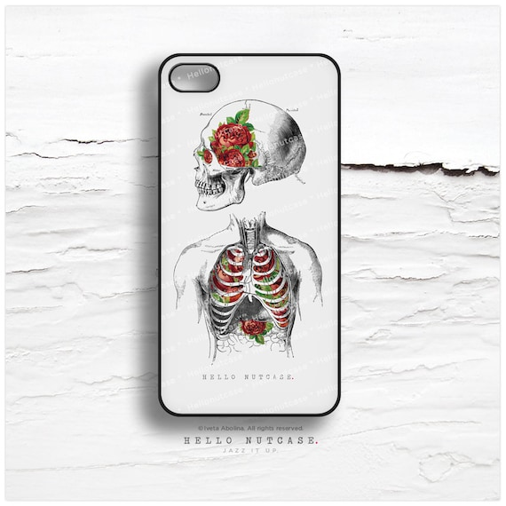 iPhone 7 Case Anatomy Skull Ribs Roses iPhone 7 Plus iPhone 6s Case iPhone SE Case iPhone 6 Case iPhone 6s Plus iPhone Galaxy S6 Case N11