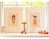 Nursery Art, 12 x 16 inch/30 x 40cm Bespoke White Frame for Original Artwork, Nursery Wall Art, Framed Artwork