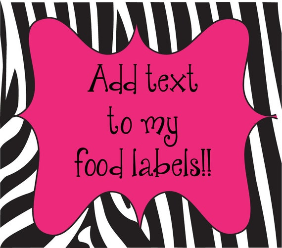 Add personalization to your DIY tented food labels
