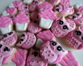 3 Dozen Mini Valentine Owls and Cupcakes