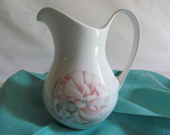Royal Doulton Pitcher Pink Green Floral