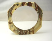 Vintage Lucite Marbled Bracelet Modernist Bangle Birthday Mothers Day Anniversary
