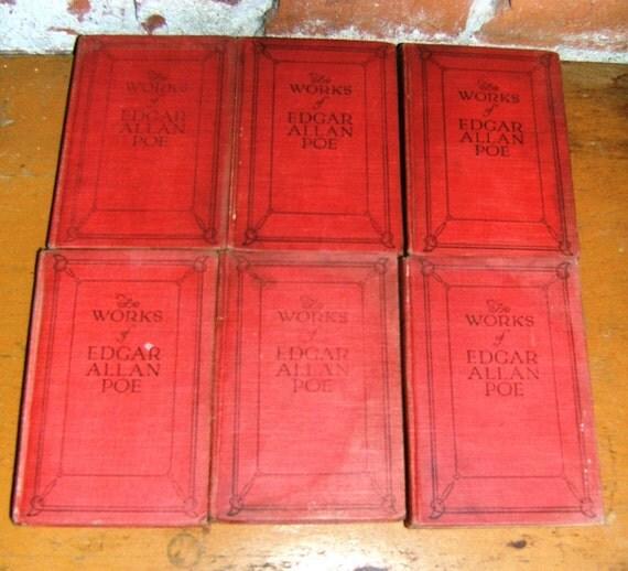 Six 1904 Edgar Allan Poe Commemorative Edition Volumes By Funk