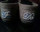 I Do Shoe Stickers Clear / Blue Rhinestone. Ivory Pearls. I Do Wedding Shoe Appliques - I Do Shoe Decals. Cute on Toms Shoes