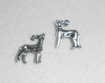 Silver Dog Hound Charms