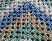 Handmade Granny Square Baby Blanket -Ready To Ship-
