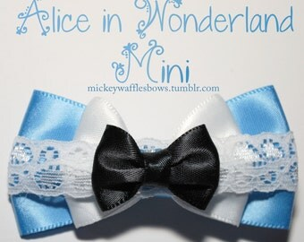 Mini Alice in Wonderland Hair Bow